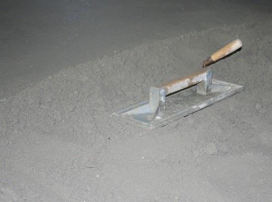 zand en cementspecie