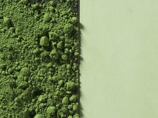 Gekleurd beton groen